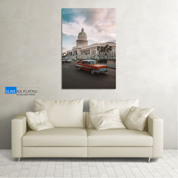Automobil na ulicama Cube slika na platnu