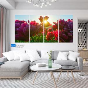 Raznovrsno cvece slika na platnu