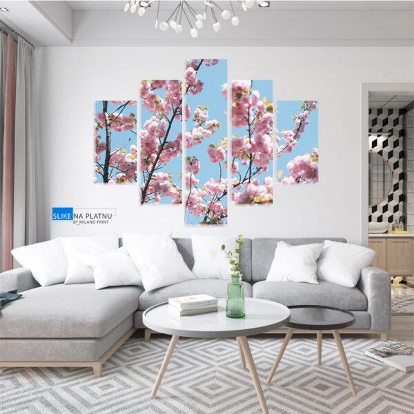 Cvetanje u prolecu slika na platnu