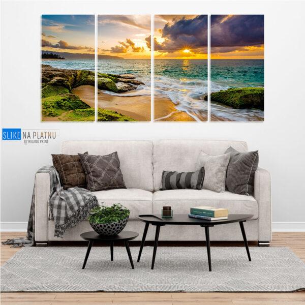 Hawaii zalazak slika na platnu