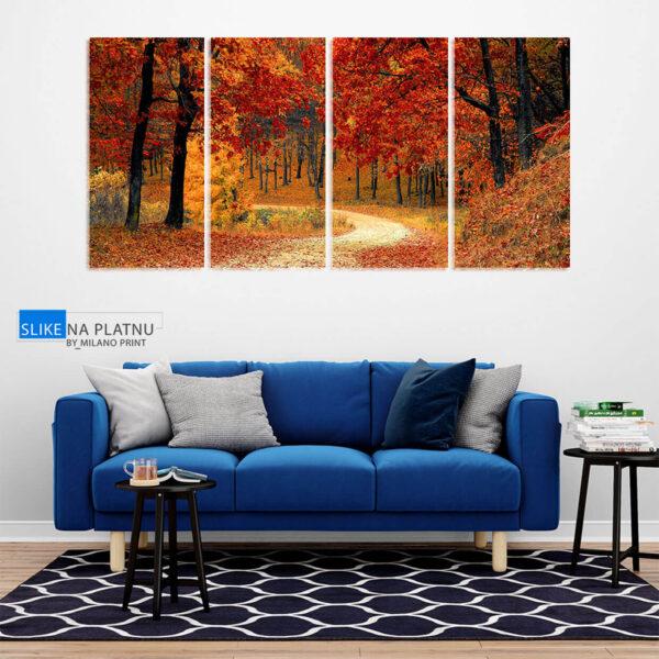 Jesen u sumi slika na platnu