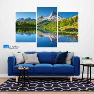 Jezero i priroda slika na platnu