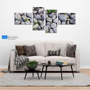 Kamenje na plazi slika na platnu
