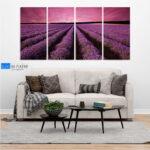 Cvetanje lavande slika na platnu