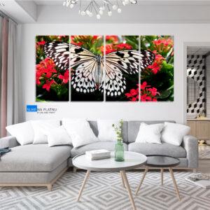 Leptir slika na platnu