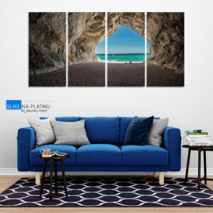 Stena na plazi slika na platnu