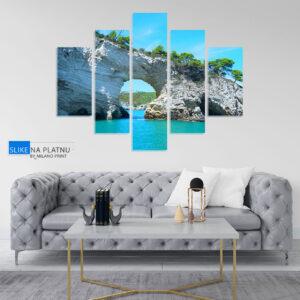 Stena na moru slika na platnu