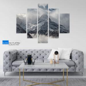 Pogled na planinu slika na platnu