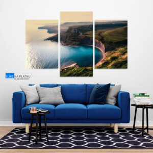 Pogled na more slika na platnu