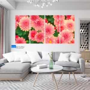 Roze cvet slika na platnu