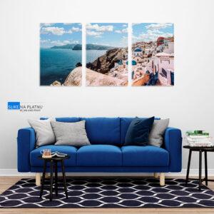 Santorini slika na platnu