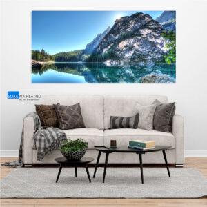 Panorama jezera slika na platnu