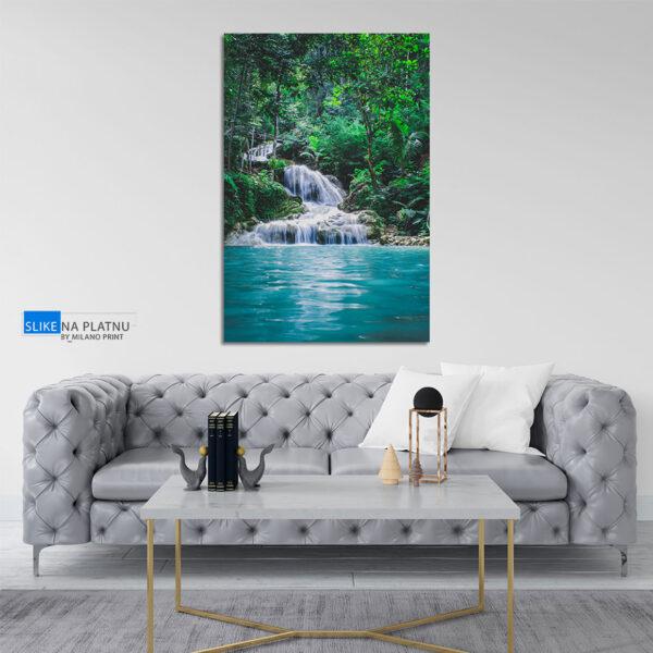 Vodopad u sumi slika na platnu
