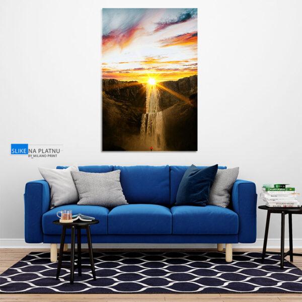 Prelepi vodopad slika na platnu