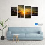 Zalazak sunca slika na platnu