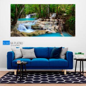 tropski vodopad slika na platnu